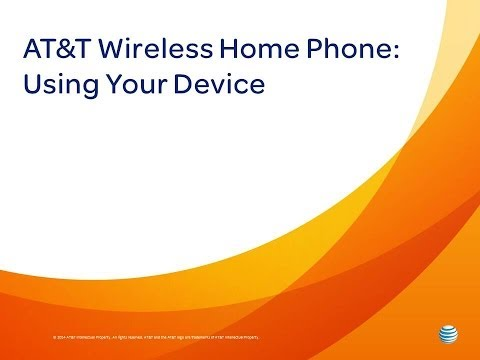 AT&T Wireless Home Phone : Using Your Device