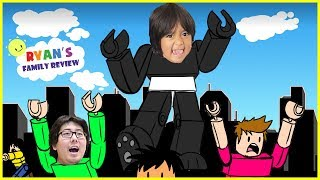 ROBLOX Battle as a Giant Boss! Let's Play with Ryan's Family Review!