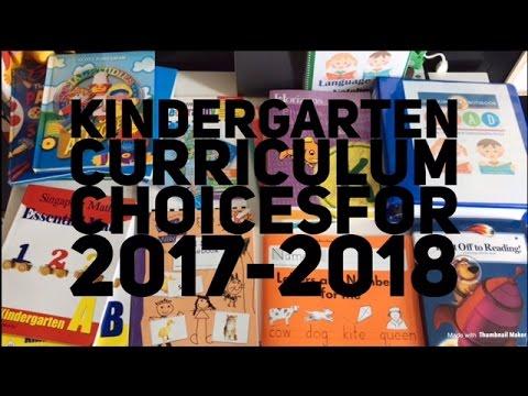 Homeschool Curriculum choices for Kindergarten 2017-2018