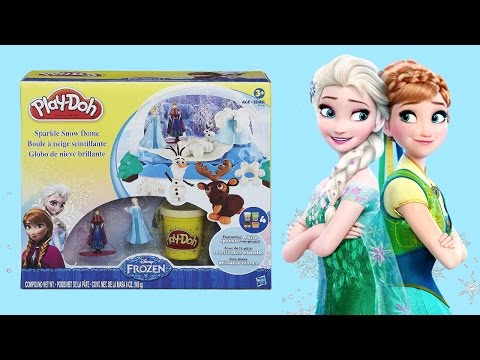 FROZEN PLAY-DOH - Sparkle Snow Dome TOY! DISNEY PRINCESS Elsa Anna Olaf Sven. Lots of FUN Unboxing!!