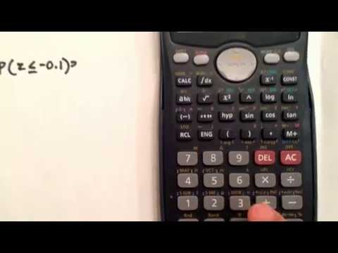 Normal Distribution using the calculator Casio fx-991MS
