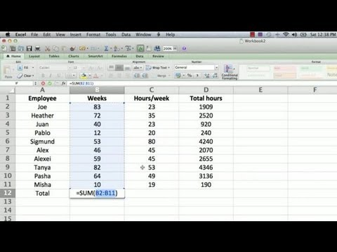 How to Make a Totaling Column Formula in Excel : Using Microsoft Excel