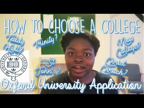 BEST WAY TO CHOOSE AN OXFORD OR CAMBRIDGE COLLEGE