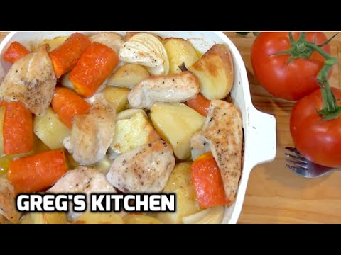 HOW TO COOK ROAST CHICKEN AND VEGETABLES - Greg's Kitchen
