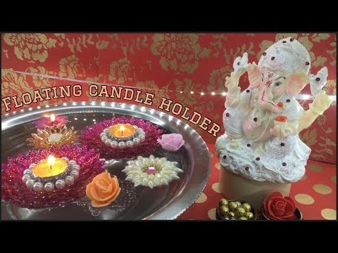 DIY : Floating candle holder || Tea light candle holder || Diwali special || Lets make Art