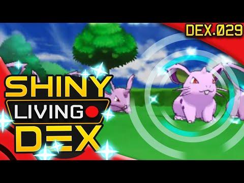 SHINY NIDORAN (F)!! Live Reaction! Quest For Shiny Living Dex #029 | Pokemon XY