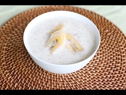 Chet Ktiss (Bananas in Tapioca and Coconut Pudding)