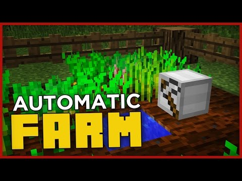 FULLY AUTOMATIC FARM in Minecraft! (harvest and plant!)