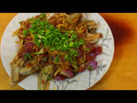 Fish fried with ginger/Chean Choun/Asian Food/cambodian food