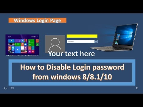 How to Disable  login password in windows 10