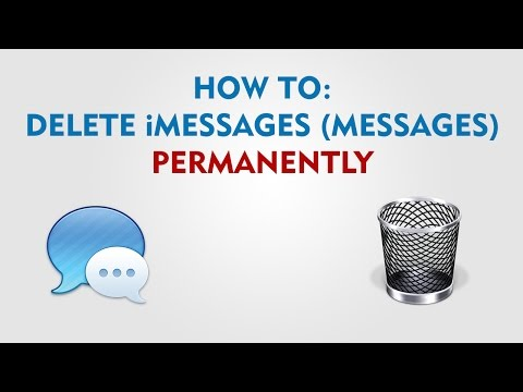 How to delete iMessages (Messages) Permanently Mac OS X