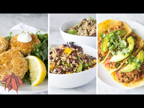 Damn Good Vegan Meals in UNDER 15 MINUTES   3 Easy Vegan Recipes 🎉