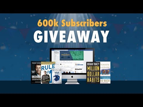 600k Subscriber Giveaway | Brian Tracy