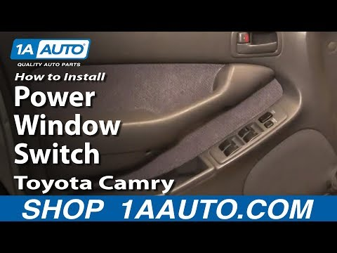 How To Install Replace Drivers Master Power Window Switch Toyota Camry 94-96 1AAuto.com