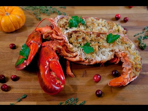 Thanksgiving Baked Stuffed Lobster
