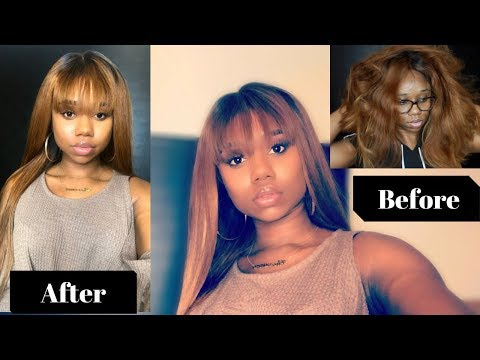 I TRASHED The Hair Then I Brought It Back To Life !  - Creating A Bang | Uamazing hair