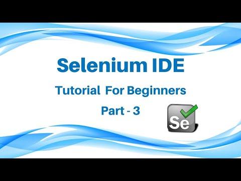 Selenium IDE Tutorial   Part 3