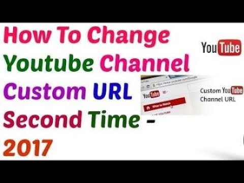How to Change YouTube Custom URL again ?