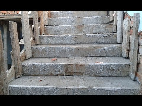 How to Build Concrete Staircase / Steps : The Easy Way to Build Liners Pouring Concrete Steps
