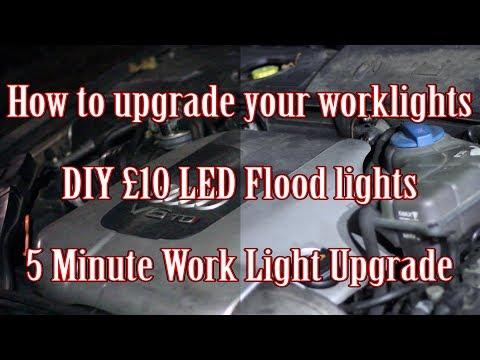 DIY 5 Minute LED Worklight Upgrade for £10