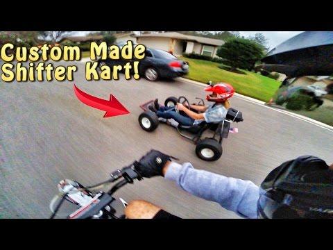 PIT BIKE & GO KART RACING ON THE STREETS!!