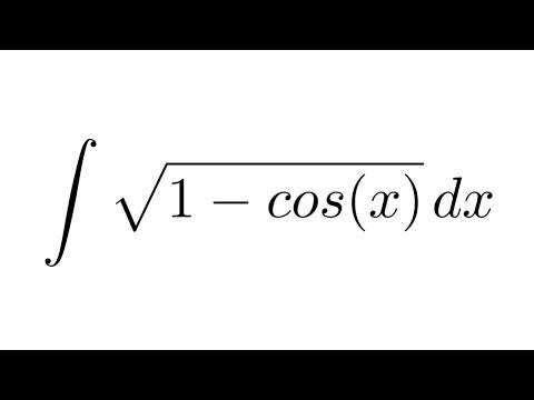 (Method 1) Integral of sqrt(1 - cos(x)) (substitution + trigonometric identities)