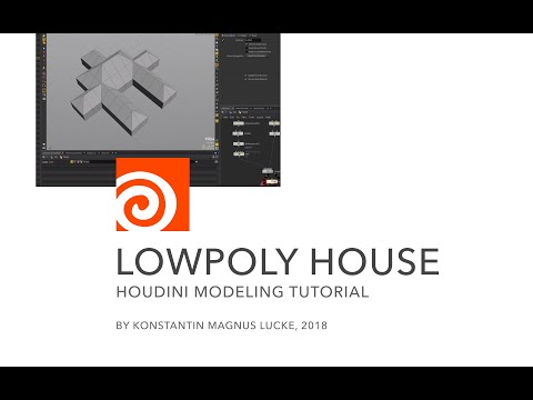 Houdini Tutorial - Low poly house
