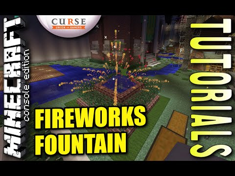 MINECRAFT - PS4 - FIREWORKS FOUNTAIN - HOW TO - TUTORIAL ( PS3 / XBOX / PC / VITA )  UPDATE
