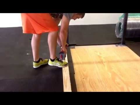 Easiest way to cut a stall mat