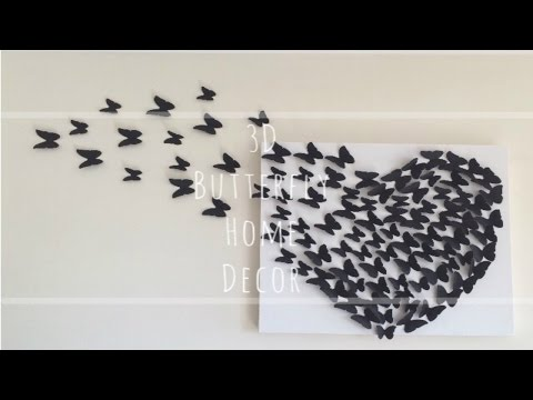 DIY: 3D Butterfly Wall Decor