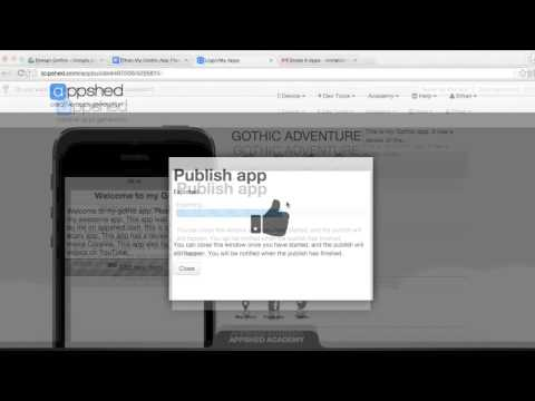 Publishing Your App on AppShed