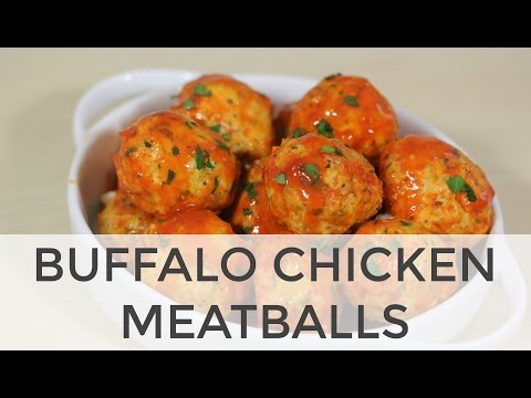 Blue Cheese Stuffed (Crock Pot!) Buffalo Chicken Meatballs | Clean & Delicious
