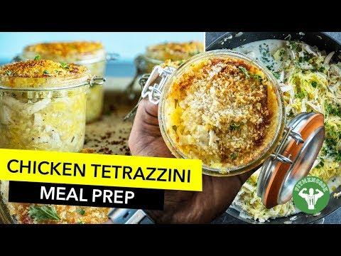 Meal Prep - Low Carb Chicken Tetrazzini Recipe / Tetrazzini con Calabaza Espagueti