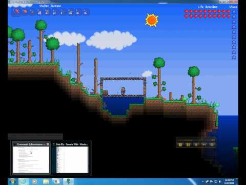 Terraria - Tshock - change time, pvp fun, edit spawn, antibuild, protect spawn