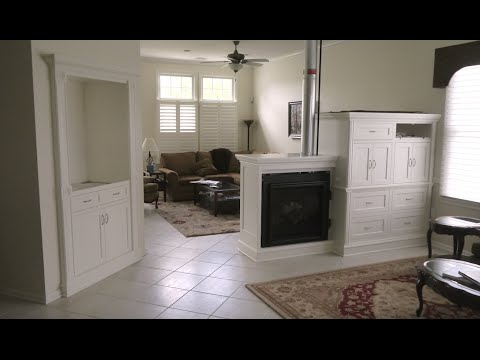 How to build a custom hutch and entertainment center with a built-in double sided fireplace. Part 1.