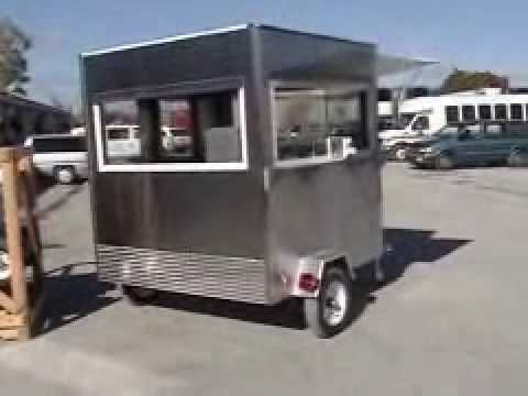 2 Man Stand In Hot Dog Cart