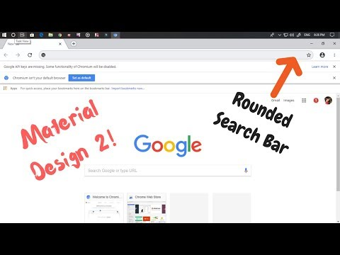 Get the Material Design 2 Rounded Search Bar On Chrome