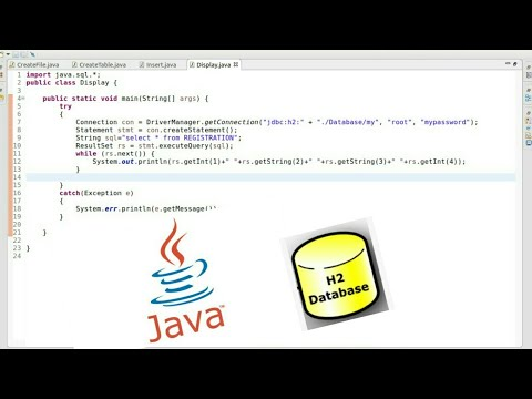 Java Jdbc with H2 database