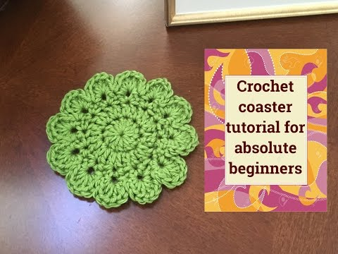 Coaster crochet tutorial for absolute beginners