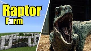 How to Make a Raptor Farm | Minecraft PE