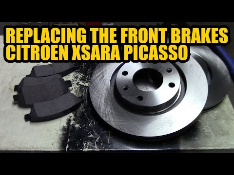 How to replace the front brakes on a 2003 Citroen Xsara Picasso