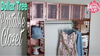 Dollar Tree DIY Portable Crate Closet