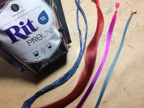 Testing RIT Proline Dye on Synthetic Wig Fiber