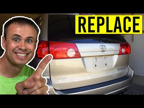 Toyota Sienna Tail Light and Reverse Light Replacement  (2004-current)