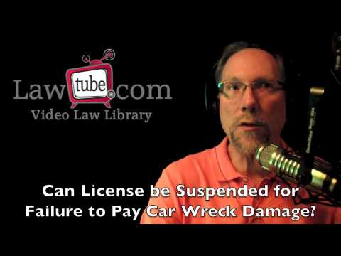 Can license be suspended for failure to pay car wreck damage?