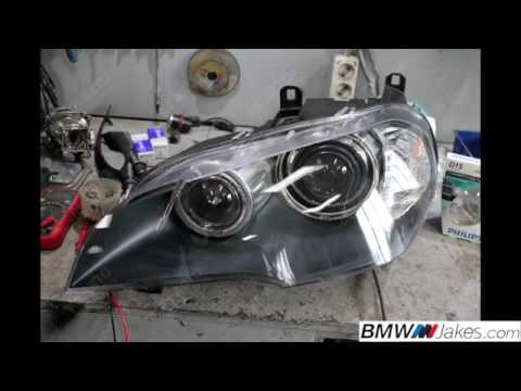 Replacement of front headlight lens covers BMW X5 E70