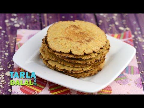 Mini Oats Khakhra (Iron Rich Recipe for Kids) by Tarla Dalal