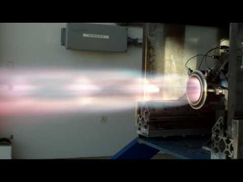 750lbf liquid rocket test fire 2