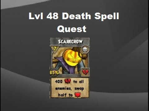 Wizard101 Lvl 48 Death Spell Quest 1440p