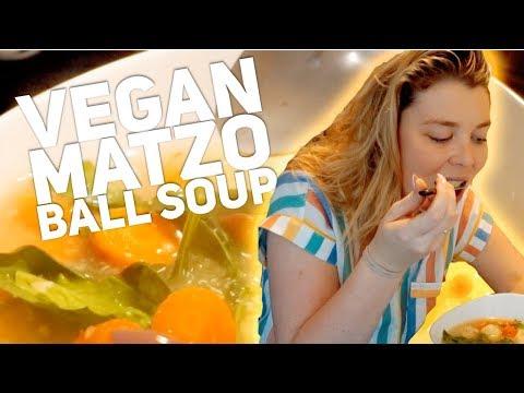 Easy Vegan Matzo Ball Soup!